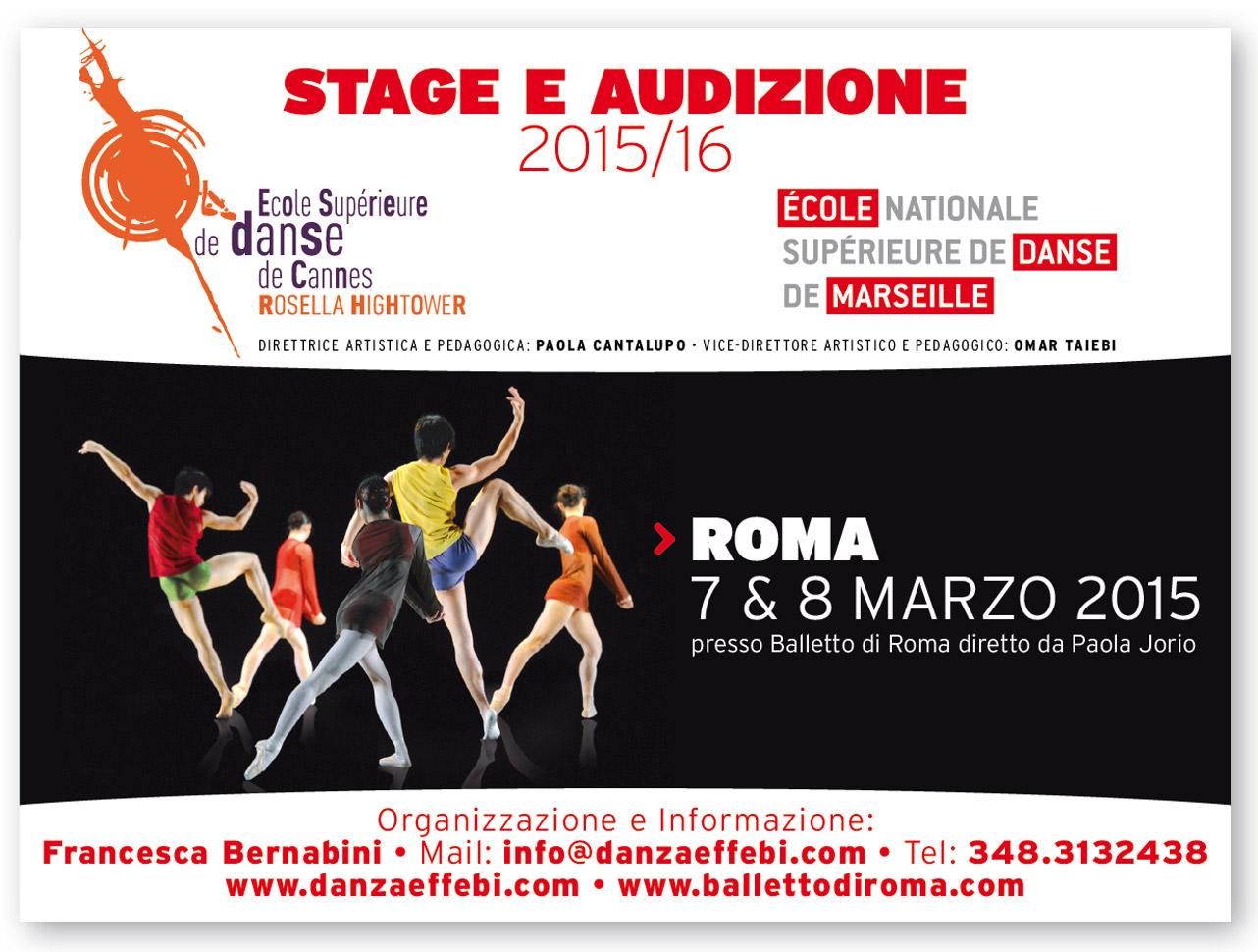 Stage e Audizione Cannes e Marsiglia